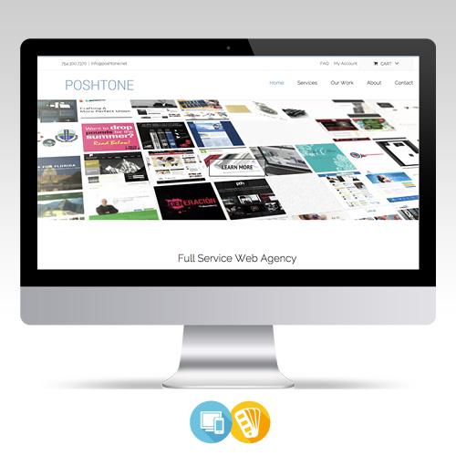 Poshtone website design